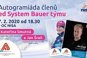 Autogramiáda Kateřiny Smutné a Jana Šraila