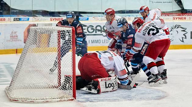 Opora. Hradec sice oba zápasy v Liberci prohrál, na výkony gólmana Marka Mazance se však mohl spolehnout.