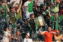 Fanoušci při derby fotbalu Jablonce s Libercem.