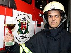 Nejtvrdší hasič přežívá bral dobrovolný hasič z Krásné Studánky Jiří Dušek první místo