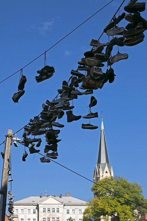 Boty na Papírovém náměstí.