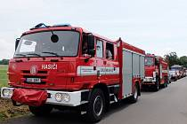 SBOR DOBROVOLNÝCH HASIČŮ Z VĚTROVA. Pro návštěvníky oslav byla připravena ukázka zásahové techniky, hasiči se spolu s rodinami vydali na spanilou jízdu skrze město Frýdlant.