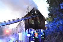 V Hrádku nad Nisou hořel dům.