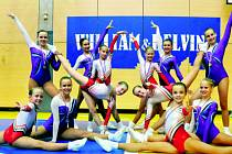 ÚSPĚŠNÁ DĚVČATA Z LIBERCE. Řada z dívek bude startovat na Světovém poháru v gymnastickém aerobiku, který proběhne ve dnech 12. 14. října v liberecké Tipsport aréně a Sport Aerobic Liberec je organizátorem této prestižní akce.