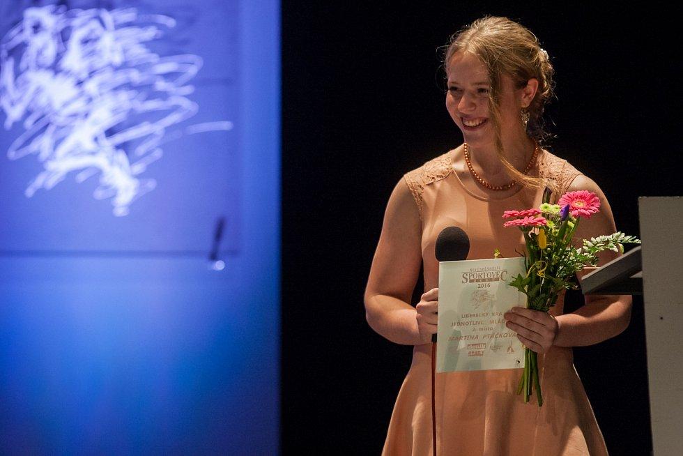 Vyhlášení ankety Nejúspěšnější sportovec Libereckého kraje za rok 2016 proběhlo 4. dubna v libereckém Divadle F. X. Šaldy. Na snímku Martina Ptáčková.