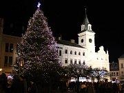 Vánoční strom v Turnově.