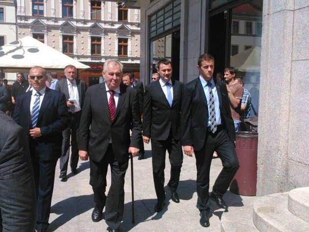 Miloš Zeman vJablonci nad Nisou