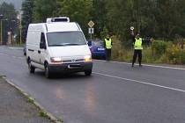 Zářijová dopravně preventivní akce ve Frýdlantě.