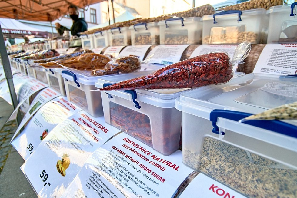 Farmářské trhy v Liberci.