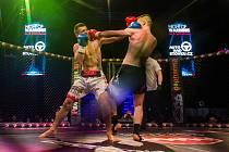 Galavečer bojových sportů, Night of Warriors XIII, proběhl 24. března v Home Credit areně v Liberci. Na snímku zleva Marko Petrovic a Martin Pala, K-1.