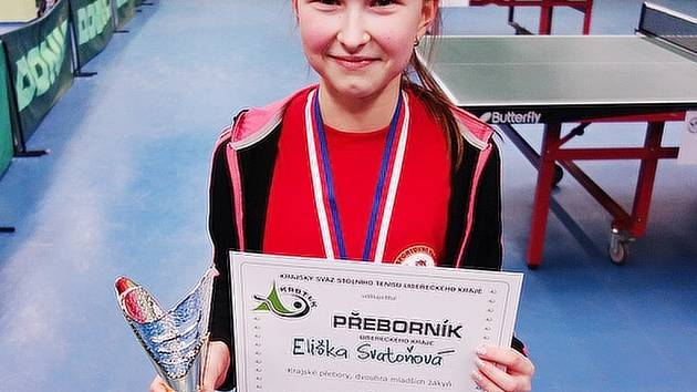 KRAJSKÝMI PŘEBORNÍKY se stala Eliška Svatoňová a Michal Blinka.
