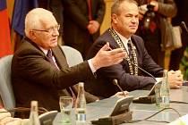 Václav Klaus při návštěvě Libereckého kraje