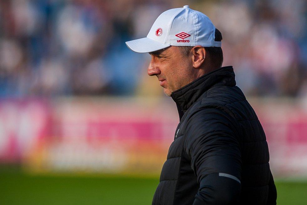 Utkání Slovanu Liberec proti Slavii Praha. Trenér Jindřich Trpišovský