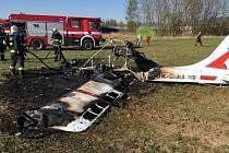 Letecká nehoda na letišti v Liberci