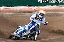EDUARD KRČMÁŘ Z AK SLANÝ vyhrál čtvrtý finálový závod Mistrovství České republiky v ploché dráze jezdců do 21 let.
