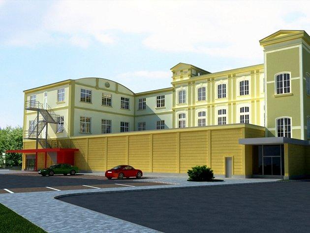 Na obrázku můžete vidět, jak by mělo nové obchodní centrum ve Frýdlantu vypadat.