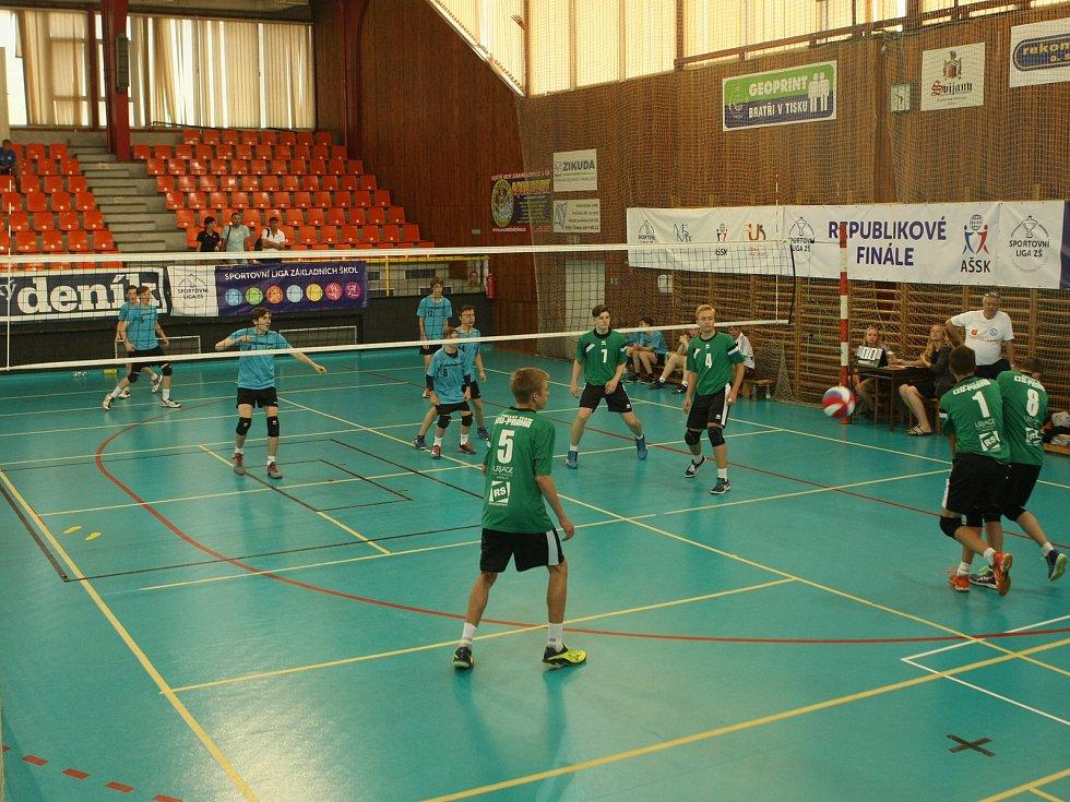 Volejbalové mistrovství škol v Liberci.