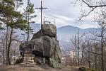 Poustevníkův kámen v Hejnicích.