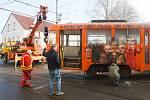 Srážka tramvají v Hanychově v Liberci