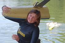 ZUZANA ŠTĚPÁNKOVÁ. Škoda, že po zranění nemohla plavat na plno.