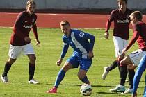 ONDŘEJ MACHUČA. V juniorce Slovanu Liberec podává stabilně slušné výkony.