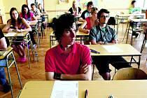 Studenti na gymnáziu. Ilustrační fotografie.