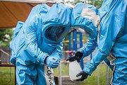 Cvičení česko-britského velitelství brigády radiační, chemické a biologické ochrany pro Spojenecký sbor rychlé reakce (ARRC) pod názvem Yellow cross 2018 pokračovalo v libereckých dolních kasárnách.