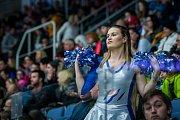 Utkání 46. kola WSM ligy ledního hokeje se odehrálo 3. února v liberecké Home Credit areně. Utkaly se celky HC Benátky nad Jizerou a Rytíři Kladno. Na snímku je roztleskávačka.