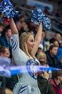 Utkání 23. kola Tipsport extraligy ledního hokeje se odehrálo 19. listopadu v liberecké Home Credit areně. Utkaly se celky Bílí Tygři Liberec a HC Kometa Brno. Na snímku je roztleskávačka Tigers cats.