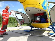Přistávací plocha pro záchranářský vrtulník na Smědavě.