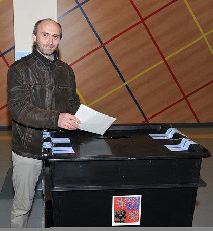 Jan Korytář volil vHarcově