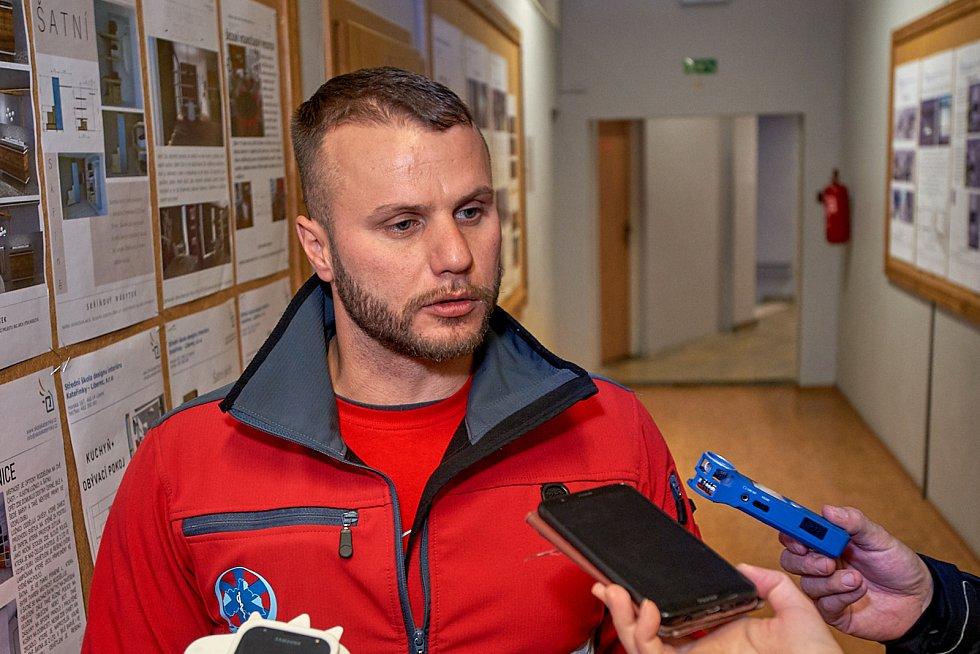 Mluvčí ZZS LK Michael Georgiev.