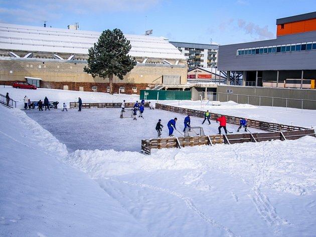 Venkovního bruslení v areálu Sport Parku Liberec.