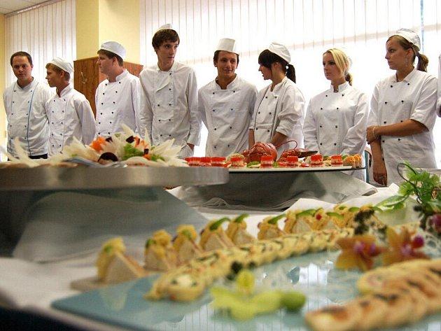 Kurz studené kuchyně na Střední škole gastronomie a služeb v Liberci.