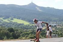 Na veseckém oválu se jelo mistrovství republiky na kolečkových lyžích.