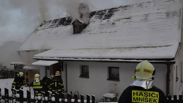 V části obce Fojtka na Liberecku došlo k požáru rodinného domu.