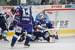 36. kolo extraligy ledního hokeje mezi Bílí Tygři Liberec a HC Kometa Brno