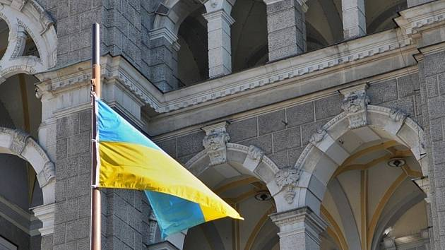 Liberecká radnice podpořila Ukrajinu.