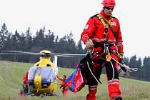 Ilustrační. Vrtulník Letecké záchranné služby.