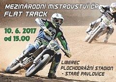 V sobotu 10. června se jede na pavlovickém oválu v Liberci závod v americké ploché dráze - flat track.
