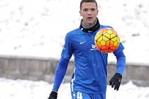 VYFASOVAL ČTYŘKU. Ondřej Karafiát bude na jaře hrát v dresu Slovanu Liberec s číslem 4.