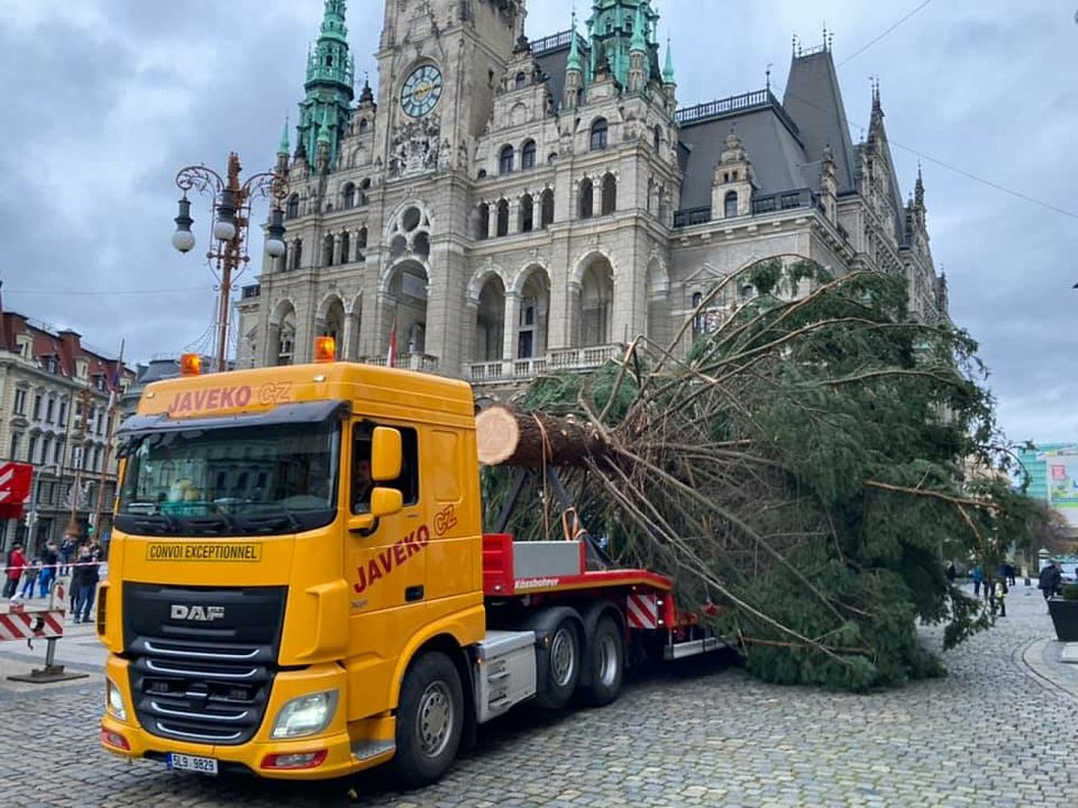 Vánoční strom zdobí liberecké náměstí