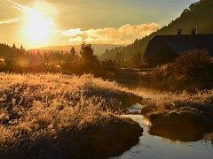 Podzimní ráno na Jizerce.