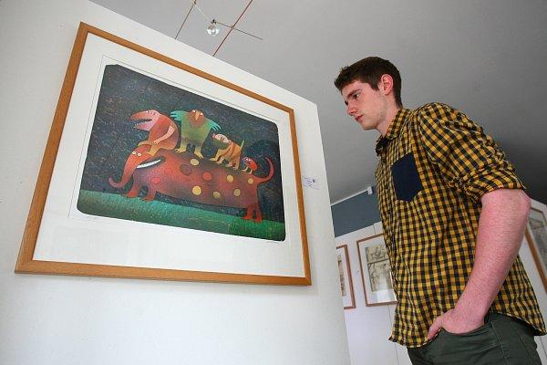 DĚTSKÉ ILUSTRACE. Velkou část Bornových děl tvoří jeho obrázky pro děti, kterými se proslavil především. Těm dala galerie prostor již vprosincové výstavě Dětský svět.