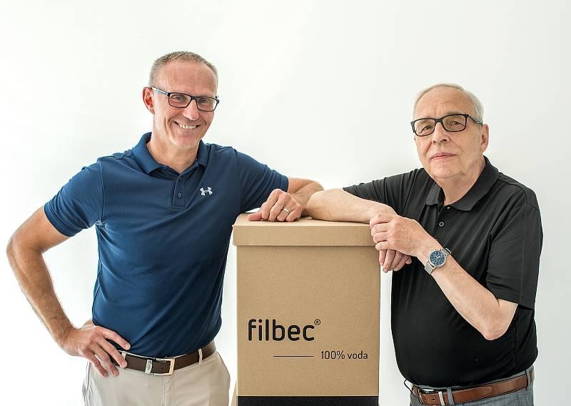 Michal Malát (na fotce vlevo) ze společnosti Filbec GmbH, kterou založil v roce 2019 společně s Gerem Buchhornem (na fotce v pravo).