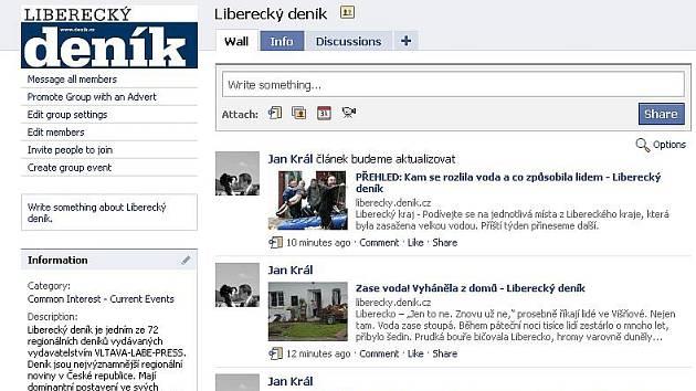 Liberecký deník je na Facebooku. Připojte se!