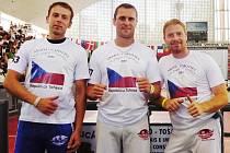 Zleva Pavel Sršeň, Tomáš Zummer a Miroslav Riedel.