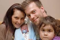 Mamince Žanetě Strnadové z Mníšku se dne 8. ledna v liberecké porodnici narodil syn David Kalous. Měřil 49 cm a vážil 2,07 kg.
