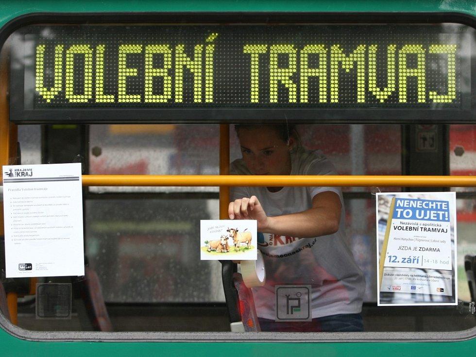 Volební tramvaj v Liberci