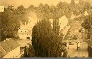 Pivovar na historické fotografii